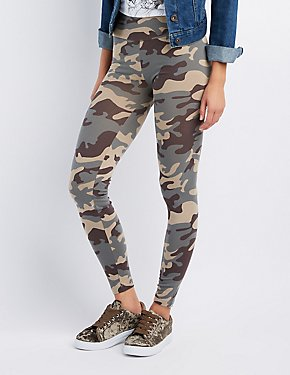 Camo High-Waisted Leggings