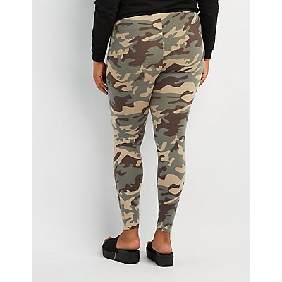 Plus Size Camo Print Leggings