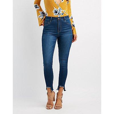 Refuge High-Rise Frayed Hem Jeans