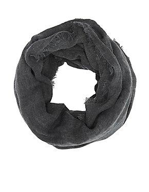 Textured Woven Infinity Scaarf