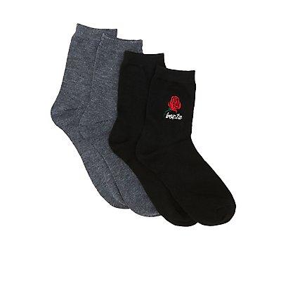 Bonita Crew Socks - 2 Pack