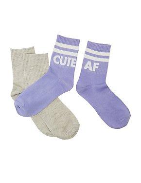 Cute AF Boot Socks - 2 Pack