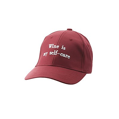 Wine Is My Self Care Baseball Hat