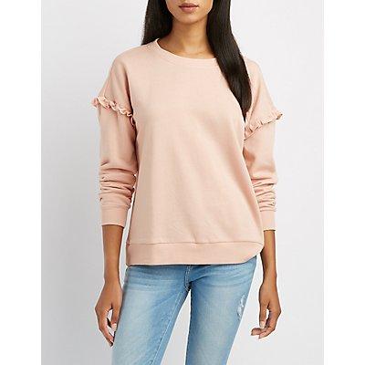 Ruffle-Trim Sweatshirt