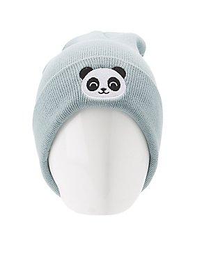 Panda Patch Beanie
