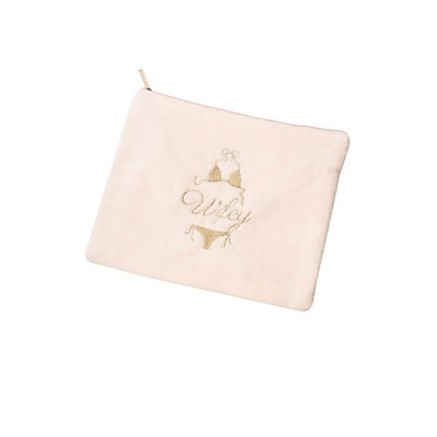 Wifey French Terry Zip Pouch