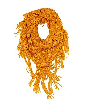 Chunky Open Knit Wrap Scarf