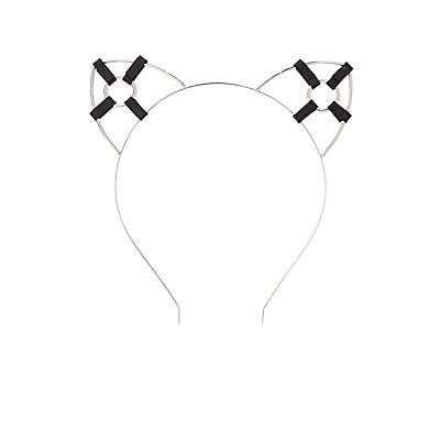 Harness-Detail Cat Ear Headband