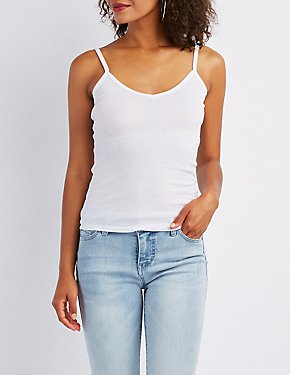Ribbed V-Neck Cami