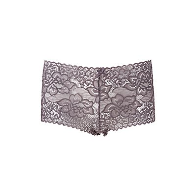 Scalloped Lace Boyshort Panties
