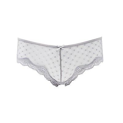 Caged-Back Swiss Dot Cheeky Panties