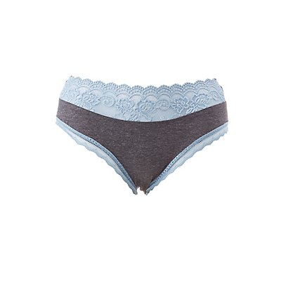 Plus Size Scalloped Lace-Trim Hipster Panties
