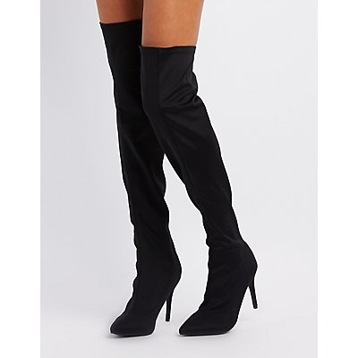 Pointed Toe Over-The-Knee Boots