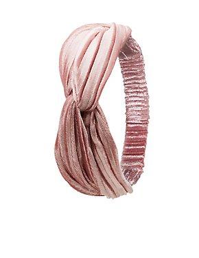 Crushed Velvet Knot Headband