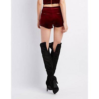 Velvet Cheeky Shorts