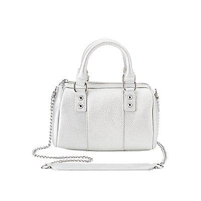 Metallic Satchel Crossbody Bag