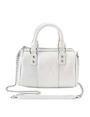 Metallic Satchel Crossbody Bag