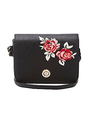 Floral Patch Crossbody Bag