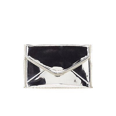 Metallic Convertible Evelope Clutch