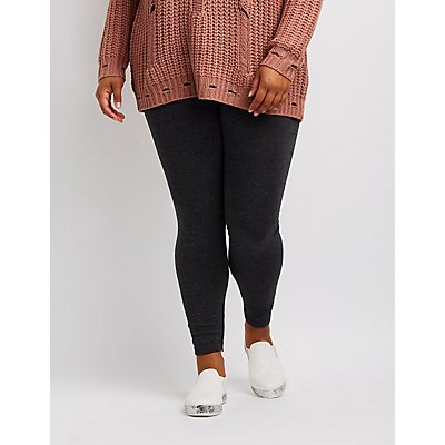 Plus Size Marled Fleece Lined Leggings