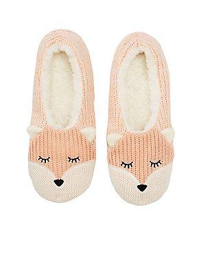 Fox Cozy Dorm Slippers