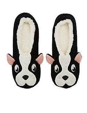Pug Cozy Dorm Slippers