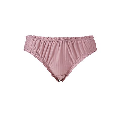 Plus Size Shadow Stripe Cheeky Panties