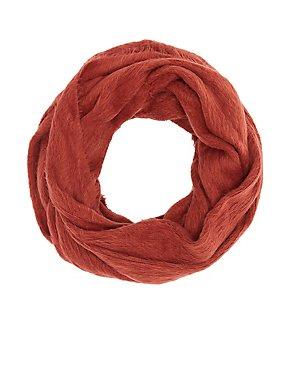 Fuzzy Yarn Infinity Scarf