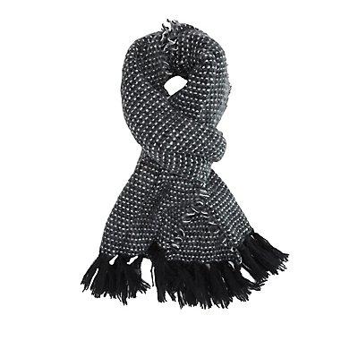 Tassel-Trim Blanket Scarf