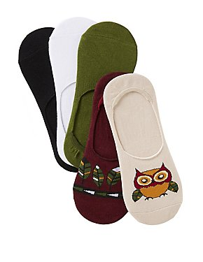 Owl & Feather Shoe Liners - 5 Pack