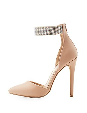 Embellished Ankle D'Orsay Pumps