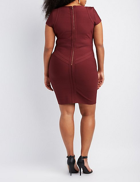 Plus Size Bandage Bodycon Dress Charlotte Russe