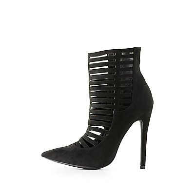 Caged Pointed Toe Booties