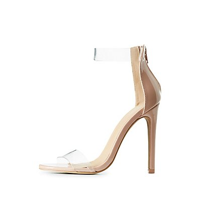 Clear Ankle Strap Sandals