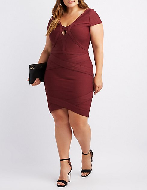 Plus Size Bandage Bodycon Dress Charlotte Russe