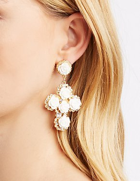Rosette Statement Earrings