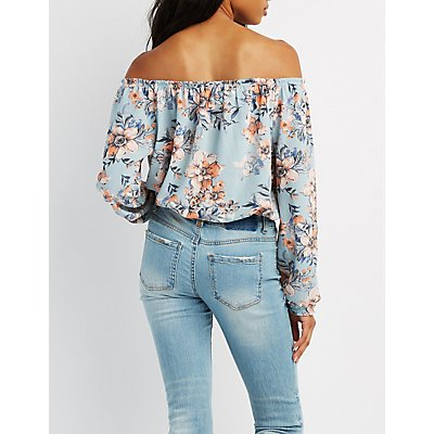 Floral Off-The-Shoulder Top