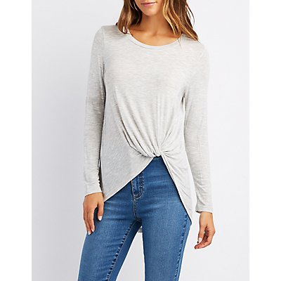 Twist-Front High-Low Tee