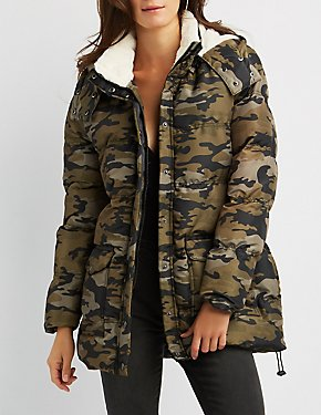 Hooded Longline Quilted Puffer Coat