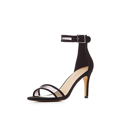 Mesh Ankle Strap Sandals