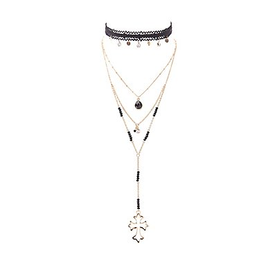 Lace & Layered Choker Necklaces