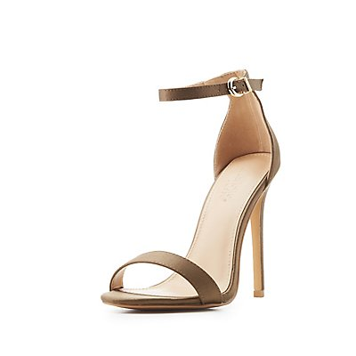 Satin Two-Piece Dress Sandals