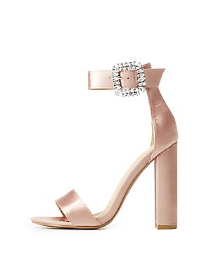 Satin Two-Piece Dress Sandals