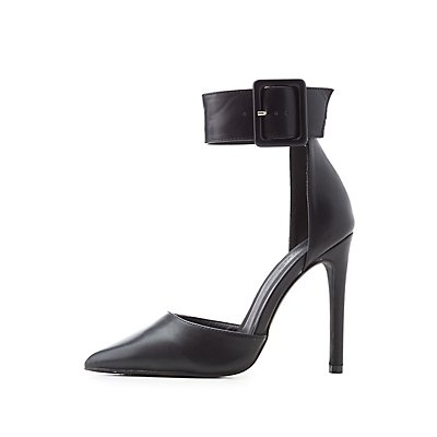 D'Orsay Ankle Strap Pumps