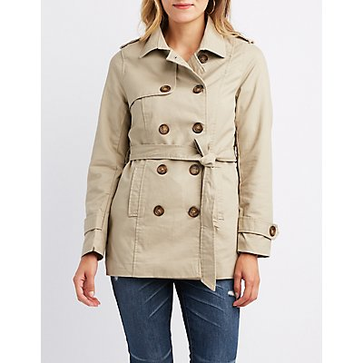 Lightweight Double-Breasted Trench Coat