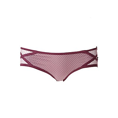 Caged Fishnet Inset Hipster Panties