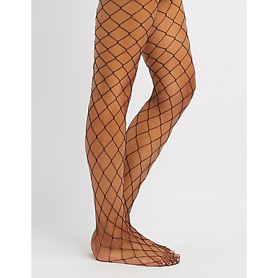 Rainbow Exploded Fishnet Tights