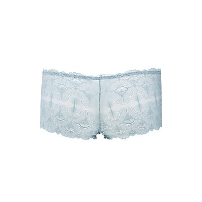 Scalloped Lace Boy Short Panties