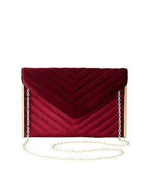 Quilted Velvet Convertible Crossbody Bag