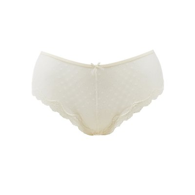 Plus Size Lace-Trim Caged-Back Cheeky Panties